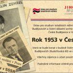 Pozvánka na mezinárodní konferenci Rok 1953 v Československu (České Budějovice, 17.–18.04.2013)