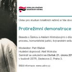 Pozvánka na seminář Protirežimní demonstrace 1. května 1966 (Praha, ÚSTR, 21.02.2013)