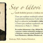 Pozvánka na seminář Sny o tátovi, aneb hrdelní proces s českou technickou inteligencí (Praha, ÚSTR, 04.04.2013)