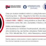 """Pozvánka na mezinárodní vědeckou konferenci """"Činnost československých zpravodajských služeb v Rakousku v letech 1945–1989"""" (Telči, 10.–11.12.2013)"""
