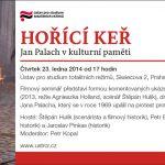 Pozvánka na filmový seminář Hořící keř. Jan Palach v kulturní paměti (Praha, ÚSTR, 23.01.2012, 17.00)