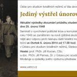 Pozvánka na seminář Jediný výstřel únorového puče (Praha. ÚSTR, 25.02.1948)