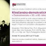 Seminář o Křesťansko-demokratické straně v 50. a 60. letech 20. století (Praha, ÚSTR, 19.06.2014)