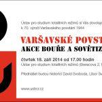 Pozvánka na seminář Varšavské povstání 1944: Akce Bouře a sovětizace Polska (Praha, ÚSTR, 18.09.2014 od 17 hodin)