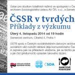Pozvánka na seminář: ČSSR v tvrdých datech? Příklady z výzkumu (Praha, 04.11.2014)