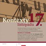 Pozvánka na konferenci Kontexty 17. listopadu (Praha, FF UK, 13.11.2014)