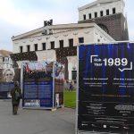 Výstava Rok 1989 na náměstí Jiřího z Poděbrad v Praze