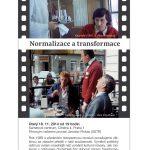"""Pozvánka na filmový seminář """"Normalizace a transformace"""" (Praha, Sametové centrum, 18.11.2014)"""