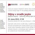 Pozvánka na seminář Dějiny v zrcadle jazyka (Praha, FFUK, 24.02.2015 od 17.30)
