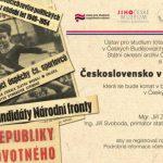 Pozvánka na konferenci Československo v letech 1963–1967 (České Budějovice, budova Státního okresního archivu, 20.–21. května 2015)