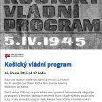Pozvánka na seminář Košický vládní program (Praha, ÚSTR, 26.03.2015 od 17 hodin)