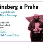 Pozvánka na vzpomínkový večer u příležitosti 50. výročí zvolení Allena Ginsberga králem majálesu (Praha, ÚSTR, 29.04.2015)