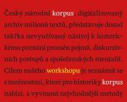 Historické dílny – Práce s korpusem – Workshop pro historiky