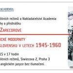 Utváření socialistické modernity. Bydlení v Československu v letech 1945–1960/Manufacturing a Socialist Modernity. Housing in Czechoslovakia 1945–1960 (Praha, ÚSTR, 25.05.2015 od 17.00)