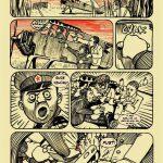 Ukázka výstavy o komiksové knize Ještě jsme ve válce
