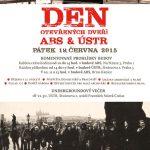 Pozvánka na Den otevřených dveří ABS a ÚSTR (Praha, Brno–Kanice, 19.6.2015)
