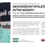 Pozvánka na besedu se sovětským disidentem Michasem Ignatěvičem Kukobakou (Praha, 19.8.2015)