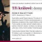 Pozvánka na filmový seminář Tři králové: demytizace hrdinů? (Praha, ÚSTR, 08.10.2015 od 17.00)