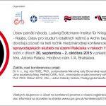 """Pozvánka na mezinárodní vědeckou konferenci """"Činnost československých zpravodajských služeb v Rakousku v letech 1945–1989 III."""" (Bratislava, 30.09–02.10.2015)"""