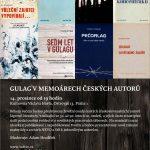 Pozvánka na seminář Gulag v memoárech českých autorů (Praha, Knihovna Václava Havla vpondělí 14.12.2015 od 19.00)
