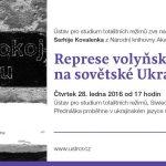 Pozvánka na přednášku ukrajinského historika Serhije Kovalenka Represe volyňských Čechů na sovětské Ukrajině (Praha, ÚSTR, 28.01.2016 od 17.00)