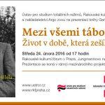 Pozvánka na prezentaci knihy Gerharda Scholtena Mezi všemi tábory (Praha, 24.02.2016 od 17.00)