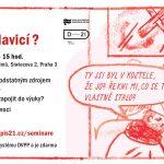 Pozvánka na seminář pro učitele Komiks pod lavicí? (Praha, ÚSTR 13. 05.2016)