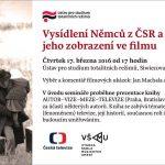 Pozvánka na filmový seminář Vysídlení Němců z ČSR a proměny jeho zobrazení ve filmu (Praha, 17.03.2016 od 17.00)