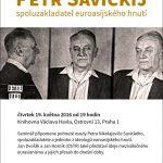 Pozvánka na seminář Petr Savickij – spoluzakladatel euroasijského hnutí (Praha, Knihovna Václava Havla, 19.05.2016a