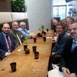 Pracovní oběd se zástupci ENRS v Budapešti
