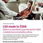Pozvánka na seminář LSD made in ČSSR (Praha, ÚSTR, 16.06.2016)