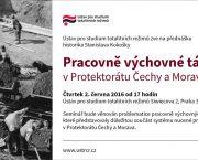 Přednáška o pracovně výchovných táborech v Protektorátu Čechy a Morava