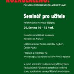 Pozvanka na seminář Kolektivizace ve výuce dějepisu (Praha, NZM, 20.06.2016)
