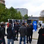 Vernisáž výstavy Freedom Express - Cesty k přelomu před Národní technickou knihovnou v Praze