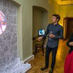 Audiovizuální instalace Bureaucracy and Totalitarianism doprovodila konferenci o byrokracii ve střední Evropě (foto: NYUP/Rosamund Johnston)