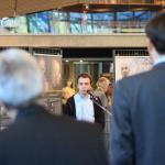 Historik Adam Hradílek přednáší na vernisáži výstavy Židé v gulagu v Muzeu okupace v Tallinnu