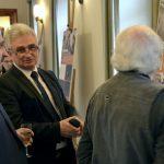 Předseda Senátu Milan Štěch a ředitel ÚSTR Zdeněk Hazdra na vernisáži výstavy Nemohli jsme mlčet. Lidé Charty 77