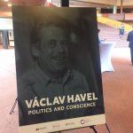 Výstava Václav Havel - Politika a svědomí v Jednacím sále Rady Evropy ve Štrasburku