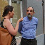 Michaela Stoilova, koordinátorka projektu Poslední adresa v Česku, s Borisem Bělenkinem