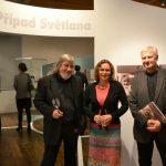 Zleva: architekt výstavy Hynek Fetterle, vedoucí týmu autorů Blanka Mouralová, autor grafického zpracování výstavy Petr Liška