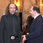Senátor Zdeněk Papoušek s ředitelem ÚSTR Zdeňkem Hazdrou