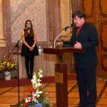 Pavel Ryjáček z ÚSTR provázel celým slavnostním večerem, v němž také představil oceněné
