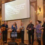 Součástí slavnostního večera byl koncert skupiny Spirituál kvintet