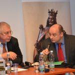Jurij Fjodorov a Jan Šír z Institutu mezinárodních studií FSV UK