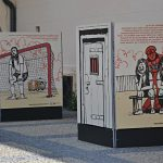 Výstava Fotbal v undergroundu v Chomutově