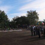 Pietní setkání na místě masového hrobu 78 českých obětí Velkého teroru popravených 28. září 1938 v Žytomyru.