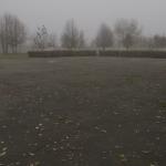 Místo masového hrobu obětí politických represí v Žytomyru, které je dodnes zaasfaltováno