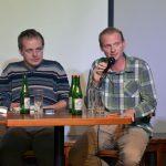 Knihu představili autoři - zleva Kamil Činátl a Jaroslav Najbert