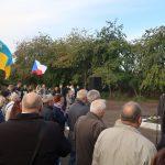 Náměstek ředitele ÚSTR Ondřej Matějka během připomínky českých obětí Velkého teroru v Žytomyru.