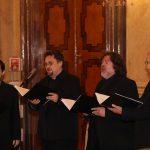 Předávání Cen ÚSTR za rok 2018 doprovodila vokálně experimentální skupina Affetto.
